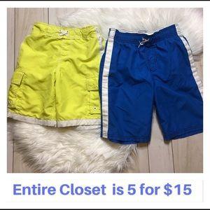 Boys' Bundle 2 Swim Trunks Shorts Size 8/10
